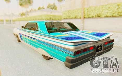 GTA 5 Declasse Voodoo Alternative v1 pour GTA San Andreas vue intérieure