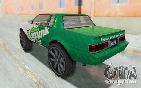 GTA 5 Willard Faction Custom Donk v1 IVF pour GTA San Andreas