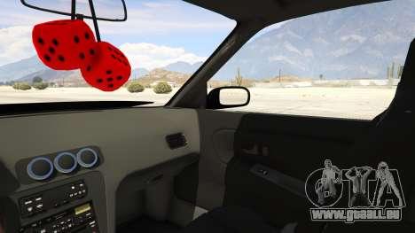 GTA 5 Nissan Silvia S13 6666 Rocket Bunny 1.7 rechte Seitenansicht