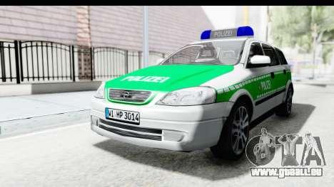Opel Astra G Variant Polizei Bayern pour GTA San Andreas sur la vue arrière gauche