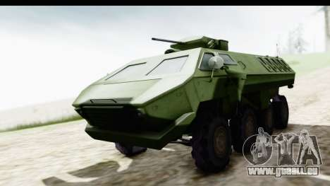 Lazar Serbian Armored Vehicle pour GTA San Andreas vue de droite