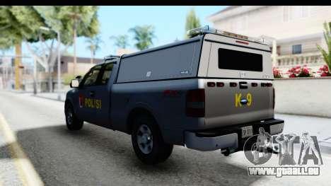 Ford F-150 Indonesian Police K-9 Unit pour GTA San Andreas vue de droite