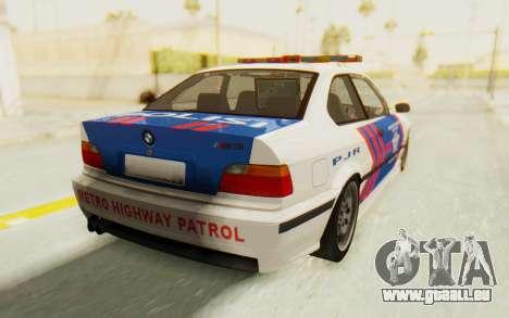 BMW M3 E36 Police Indonesia pour GTA San Andreas laissé vue