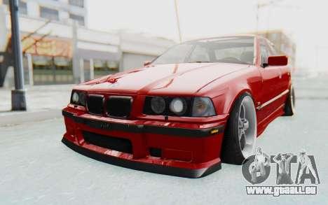 BMW M3 E36 2.5 TDS für GTA San Andreas zurück linke Ansicht