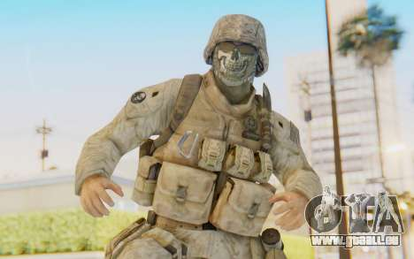 CoD MW2 Ghost Model v3 pour GTA San Andreas
