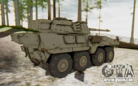 MGSV Phantom Pain STOUT IFV APC Tank v1 pour GTA San Andreas sur la vue arrière gauche
