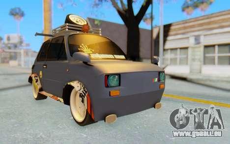 Fiat 126 pour GTA San Andreas vue de droite
