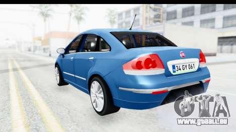 Fiat Linea 2014 Wheels pour GTA San Andreas vue de droite