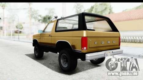 Ford Bronco 1980 IVF pour GTA San Andreas vue de droite
