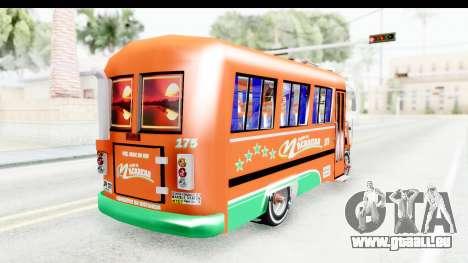 Dodge D600 v2 Bus pour GTA San Andreas sur la vue arrière gauche