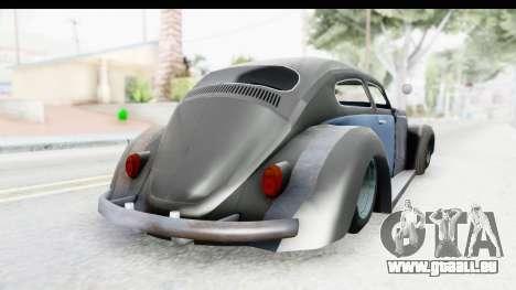Volkswagen Beetle 1963 Hotrod pour GTA San Andreas laissé vue