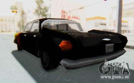 GTA VC Cuban Glendale pour GTA San Andreas sur la vue arrière gauche
