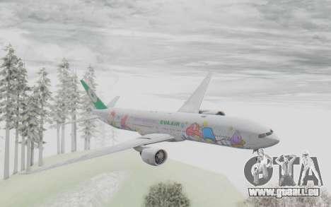 Boeing 777-300ER Eva Air v2 für GTA San Andreas zurück linke Ansicht