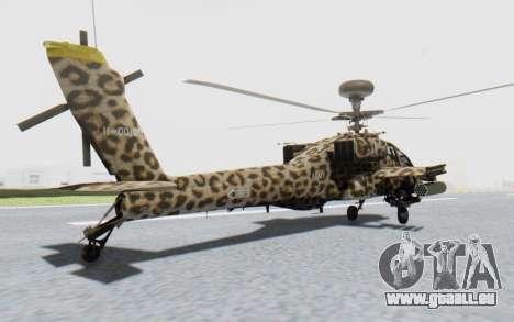 AH-64 Apache Leopard pour GTA San Andreas laissé vue