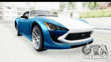 GTA 5 Lampadati Furore GT SA Lights pour GTA San Andreas vue de droite