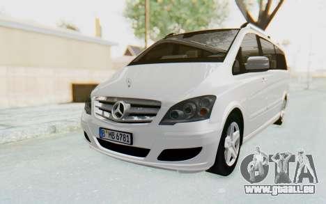 Mercedes-Benz Viano W639 2010 Long Version pour GTA San Andreas sur la vue arrière gauche