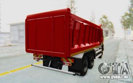 Volvo FMX 6x4 Dumper v1.0 für GTA San Andreas linke Ansicht