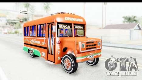 Dodge D600 v2 Bus pour GTA San Andreas vue de droite