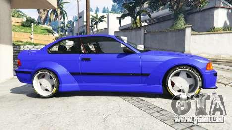 GTA 5 BMW M3 (E36) Street Custom [blue dials] v1.1 vue latérale gauche