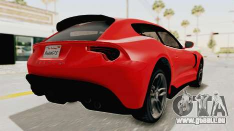 GTA 5 Grotti Bestia GTS v2 IVF für GTA San Andreas zurück linke Ansicht