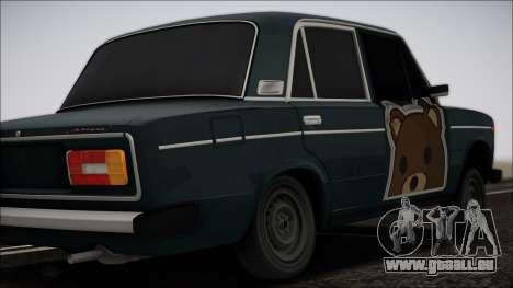 VAZ 2106 Tramp für GTA San Andreas zurück linke Ansicht