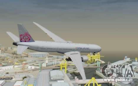 Boeing 777-300ER China Airlines für GTA San Andreas linke Ansicht