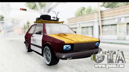 Zastava Yugo Koral Rat Style für GTA San Andreas