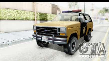 Ford Bronco 1982 Police IVF pour GTA San Andreas