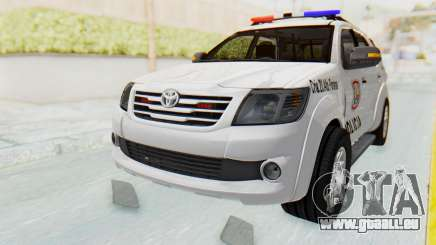 Toyota Fortuner 4WD 2015 Paraguay Police für GTA San Andreas