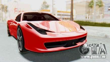 Ferrari 458 Italia F142 2010 pour GTA San Andreas