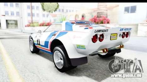 GTA 5 Lampadati Tropos Rallye pour GTA San Andreas vue de dessus
