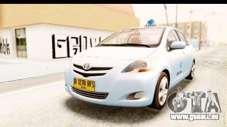 Toyota Vios 2008 Taxi Blue Bird pour GTA San Andreas