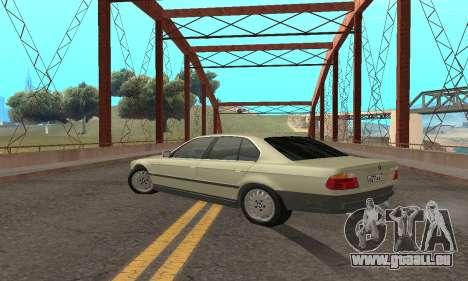 BMW 730 pour GTA San Andreas vue arrière