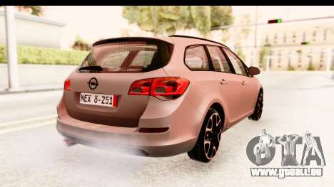Opel Astra J Tourer für GTA San Andreas linke Ansicht