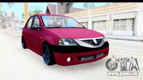 Dacia Logan Editie für GTA San Andreas rechten Ansicht
