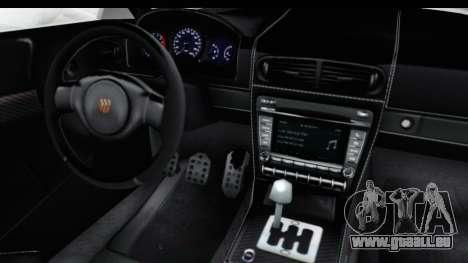 GTA 5 Pfister 811 SA Lights pour GTA San Andreas vue intérieure