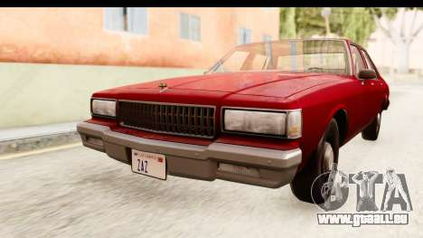 Chevrolet Caprice 1987 pour GTA San Andreas vue de droite