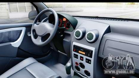 Dacia Logan Editie pour GTA San Andreas vue intérieure