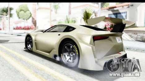 GTA 5 Emperor ETR1 IVF pour GTA San Andreas sur la vue arrière gauche
