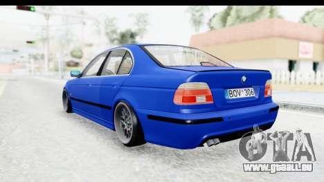 BMW 525i E39 M Tech pour GTA San Andreas vue de droite