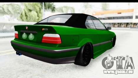 BMW M3 E36 Sloboz Edition pour GTA San Andreas laissé vue