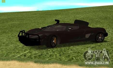 Koenigsegg Agera für GTA San Andreas Rückansicht