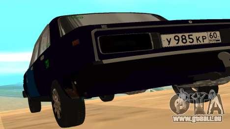 VAZ-2106 de GVR de la première version pour GTA San Andreas sur la vue arrière gauche