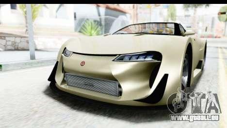 GTA 5 Emperor ETR1 IVF pour GTA San Andreas vue de droite