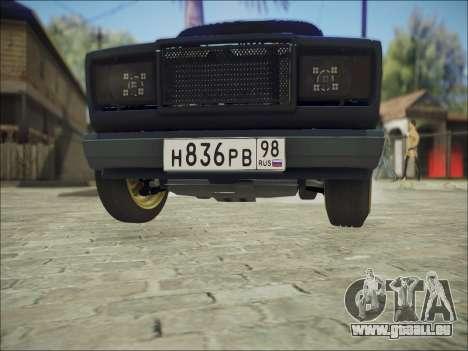 VAZ 2107 Black Jack für GTA San Andreas Innenansicht
