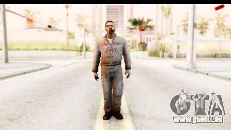 Left 4 Dead 2 - Zombie Worker pour GTA San Andreas deuxième écran