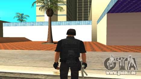 Original SWAT de la peau sans masque pour GTA San Andreas troisième écran