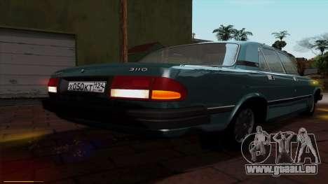 GAZ 3110 Volga für GTA San Andreas Unteransicht