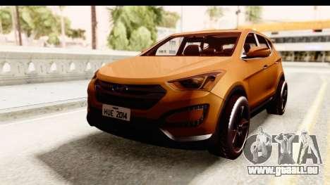 Hyundai Santa Fe 2015 für GTA San Andreas zurück linke Ansicht