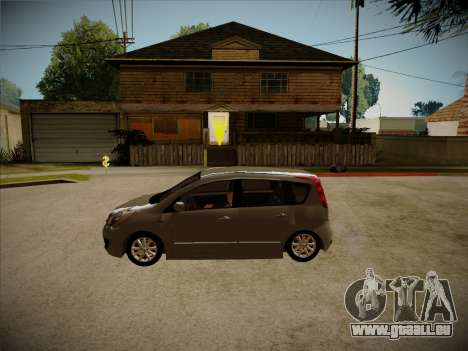 Nissan Note 2008 pour GTA San Andreas vue intérieure
